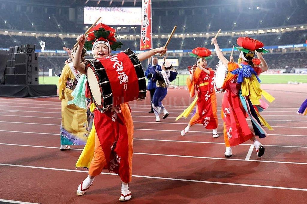 Ensayo de la ceremonia de Apertura de los Juegos. <strong>Foto:</strong> Tokio 2020