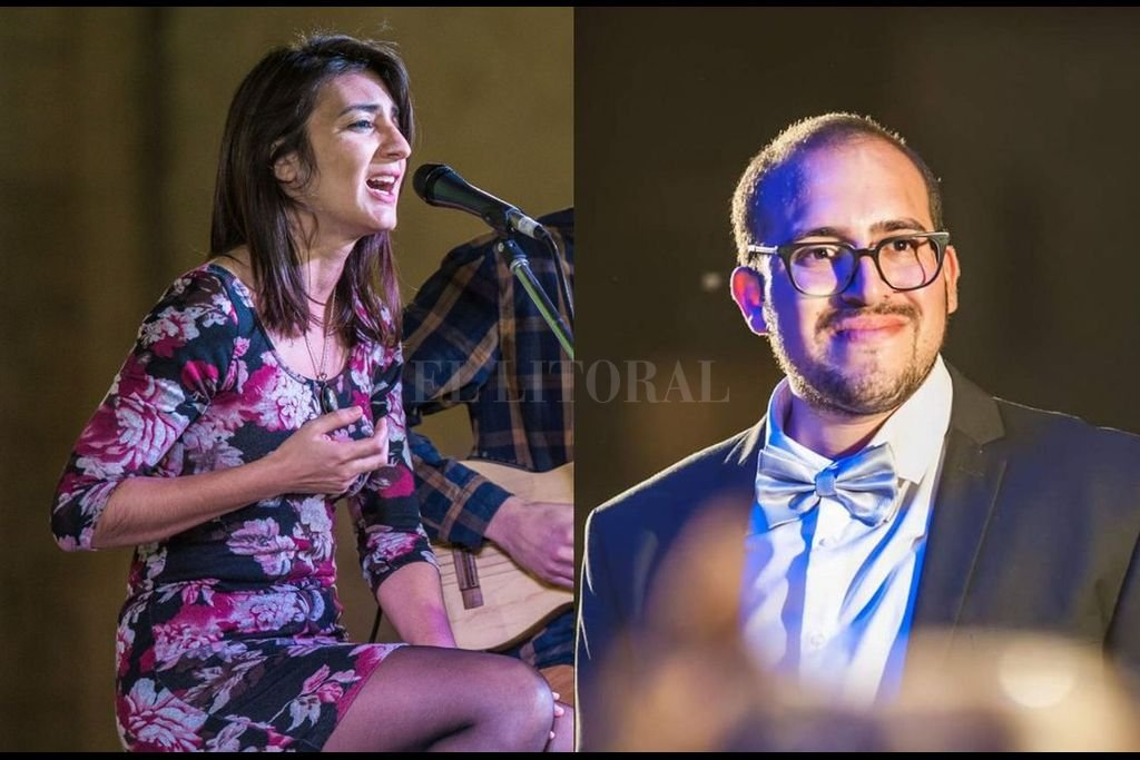 """La cantante Magui Artigues Garnier y el pianista Juan Aneiros Monti ya colaboraron en el espectáculo musical """"Mano a Mano""""; ahora vuelven en formato de dúo al aire libre. Crédito: Gentileza producción"""