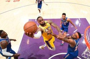 Gran actuación de LeBron para un nuevo triunfo de Los Lakers
