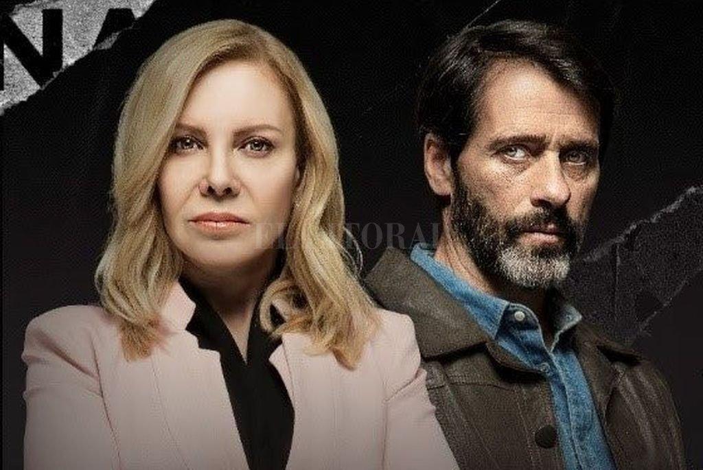 Cecilia Roth como la fiscal Marta Costas y Pablo Shuk bajo la piel de Fausto, el líder de la banda, son los protagonistas de esta historia. Crédito: Gentileza Viacom