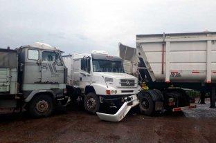 Triple choque de camiones en el sur de Santa Fe