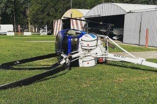 Un helicóptero se precipitó a tierra en el Aeroclub de Casilda