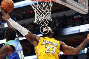 Los Lakers lograron el séptimo triunfo consecutivo y LeBron James volvió a brillar