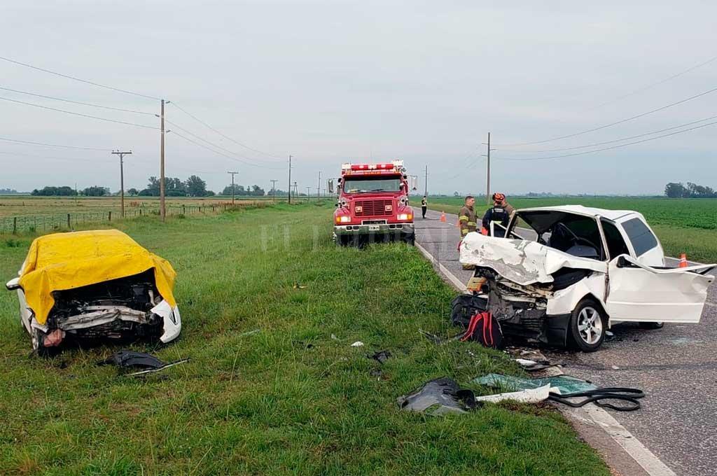 El impacto se produjo alrededor de las 6 de la mañana, entre San Eugenio y el acceso a Autopista. <strong>Foto:</strong> Gentileza Dpto Relaciones Policiales Santa Fe