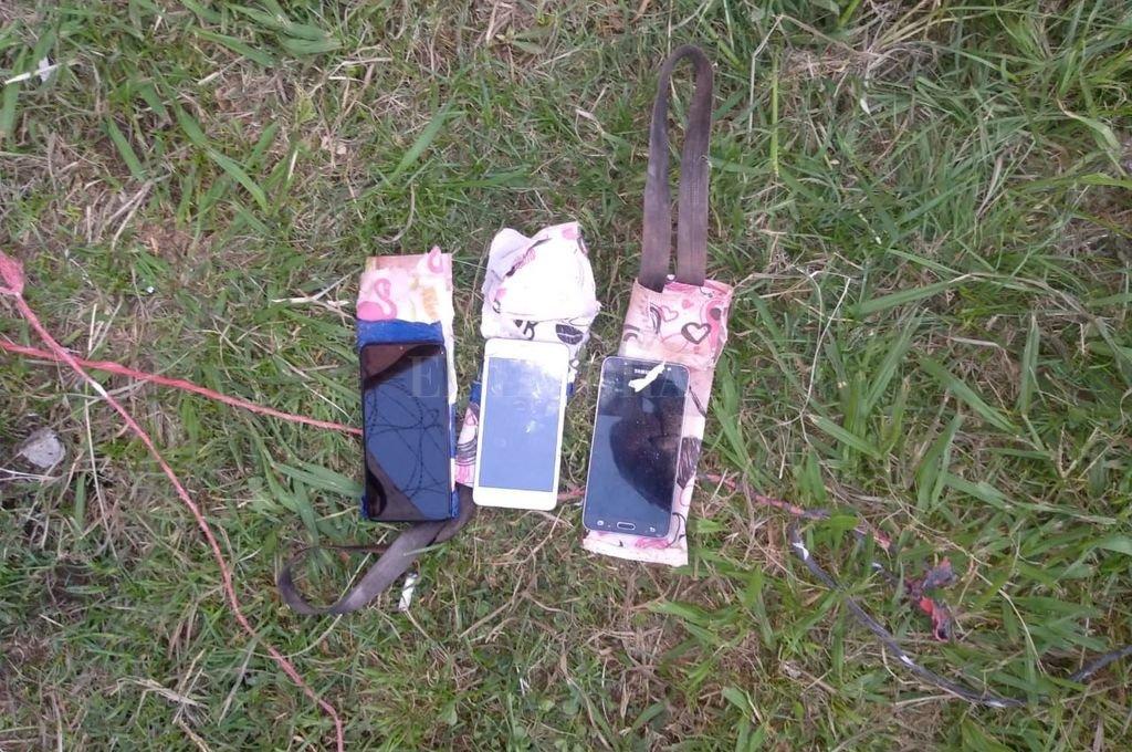 Parte del material secuestrado y de los lugares donde estaban ocultos.  Crédito: El Litoral