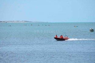 Intensa búsqueda de un nadador en Necochea