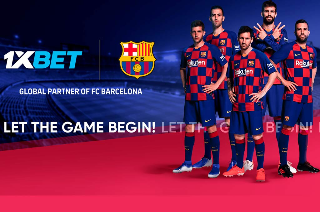 Online betting company 1XBET, new Global Partner of FC Barcelona  Crédito: Gentileza.