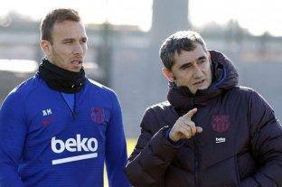 Valverde dirigió el que pudo ser su último entrenamiento en el Barcelona