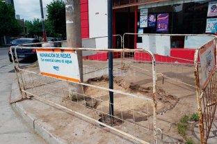 Repararon la cañería rota y taparon el pozo en barrio Mariano Comas