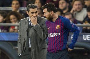 """Messi apoyó a Valverde tras dejar el Barcelona: """"Gracias por todo"""""""