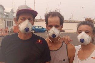 Santiago Lange tuvo que entrenar con barbijo por el humo en Australia