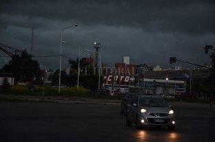 El cielo se puso negro y se desató la tormenta en Santa Fe -