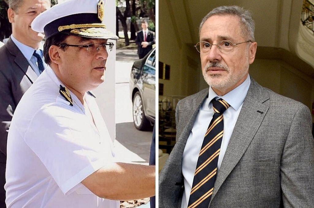 Marcelo Villanúa, exjefe de la Policía de la provincia, y el ministro de Seguridad Marcelo Saín. <strong>Foto:</strong> El Litoral