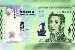 Se extiende hasta el 28 de febrero la vigencia de los billetes de $ 5 -