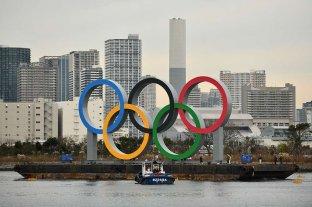 Instalaron anillos gigantes en la bahía de Tokio de cara a los Juegos Olímpicos