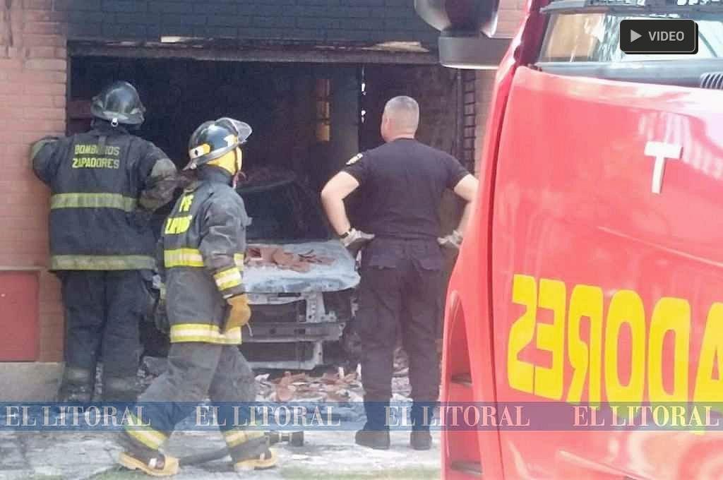 Explotó un auto dentro de una vivienda -  -