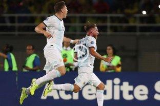 El Sub 23 de Argentina derrotó 2-1 a Colombia en el comienzo del Preolímpico de fútbol -  -