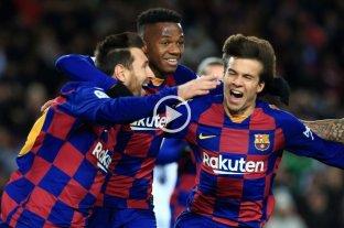 En el debut de Setién, Barcelona ganó con gol de Messi