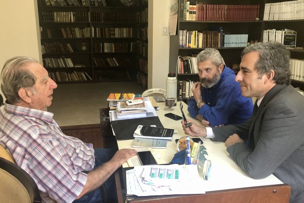 Martínez viene sosteniendo una serie de encuentros con diversos referentes, entre ellos con Danilo Kilibarda. <strong>Foto:</strong> Gentileza