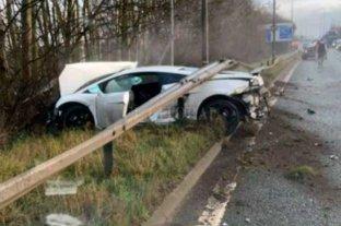 """Chiquito"" Romero se estrelló con su auto deportivo en Inglaterra"