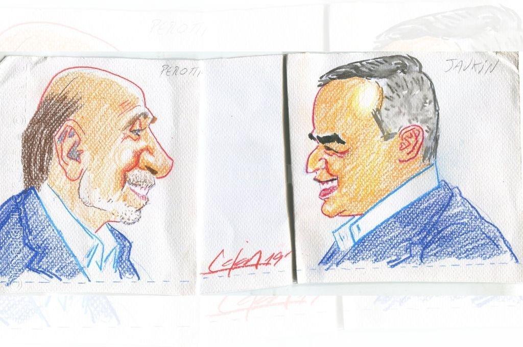 Omar Perotti y Pablo Javkin Crédito: Ilustración Lucas Cejas