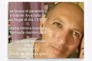 Buscan a Gabriel Arce en Paraná