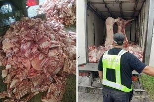 Transportaba ilegalmente más de 2 toneladas de carne de cerdo -  -