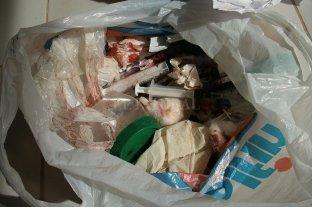 Residuos patológicos en pleno centro