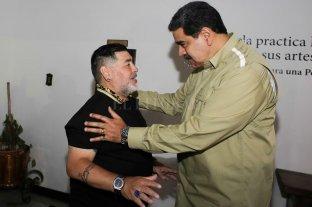 Maradona visitó a Maduro en Venezuela