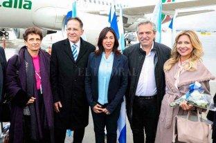 Alberto Fernández arribó a Israel