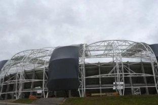 Video: se destrozó el techo del Estadio Único de Santiago del Estero