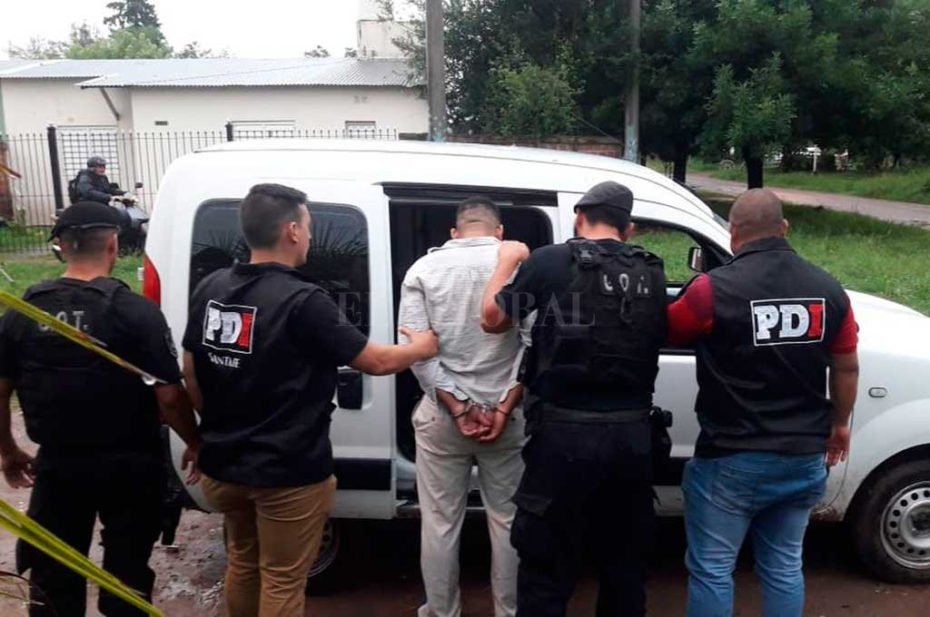 El imputado fue detenido el lunes en su domicilio de la ciudad de Esperanza por la Agencia de Investigación Criminal. Crédito: El Litoral