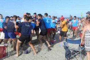 Batalla campal en un torneo de Rugby Seven