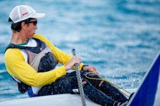 Francisco Guaragna Rigonat quedó al frente de la clasificación en la clase Laser masculina -  -