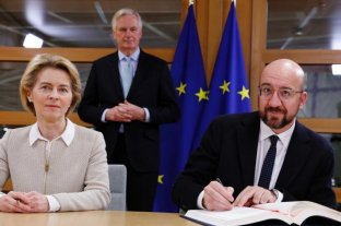 Los líderes de la UE firmaron el acuerdo del Brexit