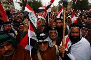 Una multitudinaria manifestación en Bagdad exige la salida de EEUU de Irak