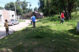 Tras el reclamo de los vecinos, cortaron pastizales en barrio Fomento 9 de Julio  -  -