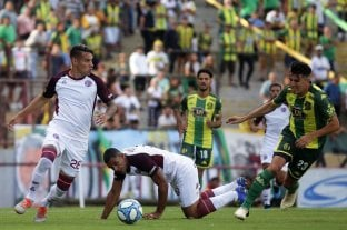 Lanús perdió con Aldosivi y no pudo llegar a la punta de la Superliga