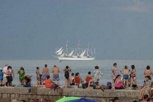 La Fragata Libertad llegó a Mar del Plata