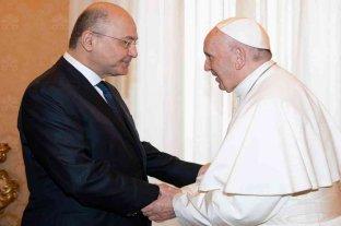 El papa Francisco se reunió con el presidente de Irak