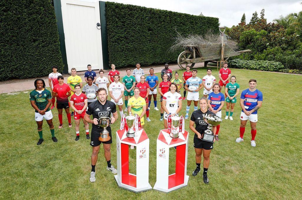 Los capitanes de los dieciséis equipos masculinos y los doce femeninos que protagonizan el certamen que tienen lugar en la Northen Island de Nueva Zelanda. Crédito: Gentileza WR
