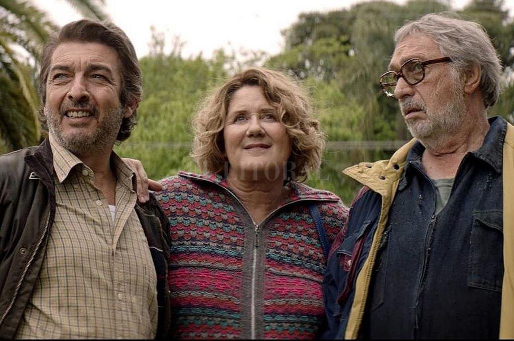 Verónica Llinás, Ricardo Darín y Luis Brandoni, figuras centrales del elenco. <strong>Foto:</strong> Gentileza Warner Bros.