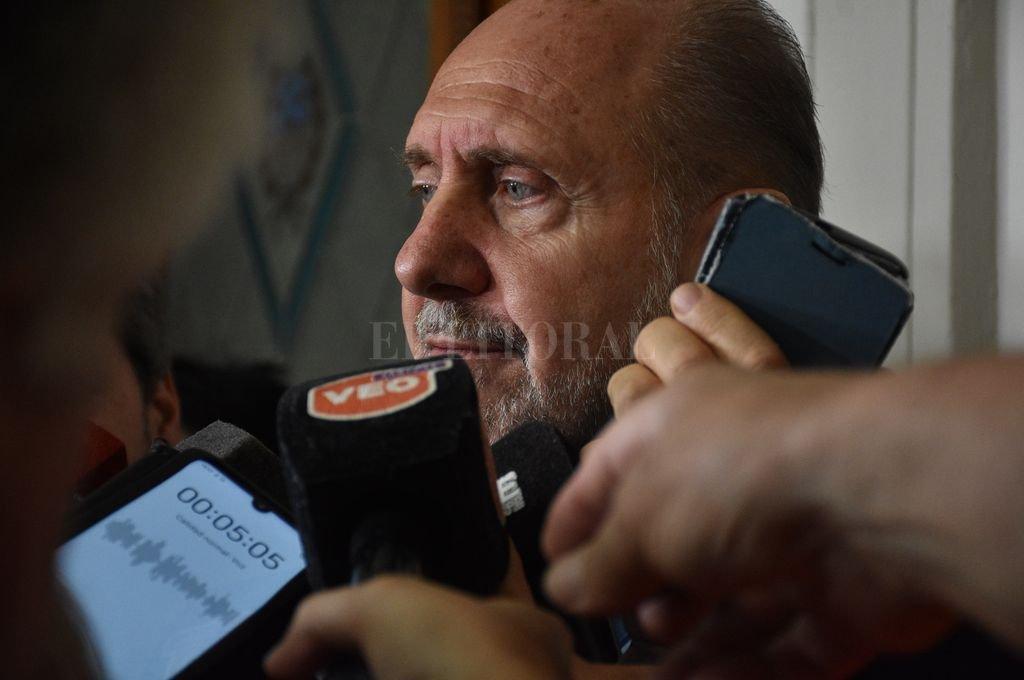 El gobernador Omar Perotti Crédito: Guillermo Di Salvatore