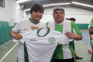 Evo Morales jugó al fútbol con Pablo Moyano