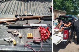 Detenidos y secuestro  de armas de fuego