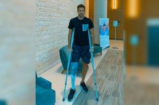 Del Potro recibió el alta tras su segunda operación en la rodilla derecha