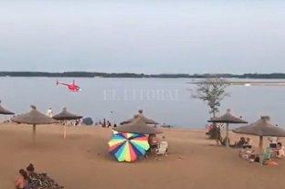 Video: investigan un sobrevuelo peligroso en la playa de Concepción del Uruguay