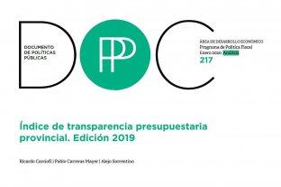 Provincias: mejora en transparencia de la información presupuestaria