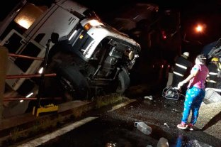 Choque de camiones en el norte de Santa Fe -  -