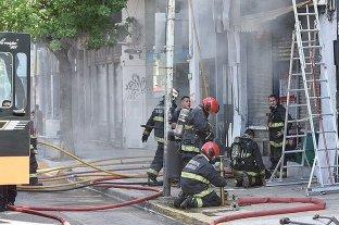 Se incendió un supermermercado chino en Palermo